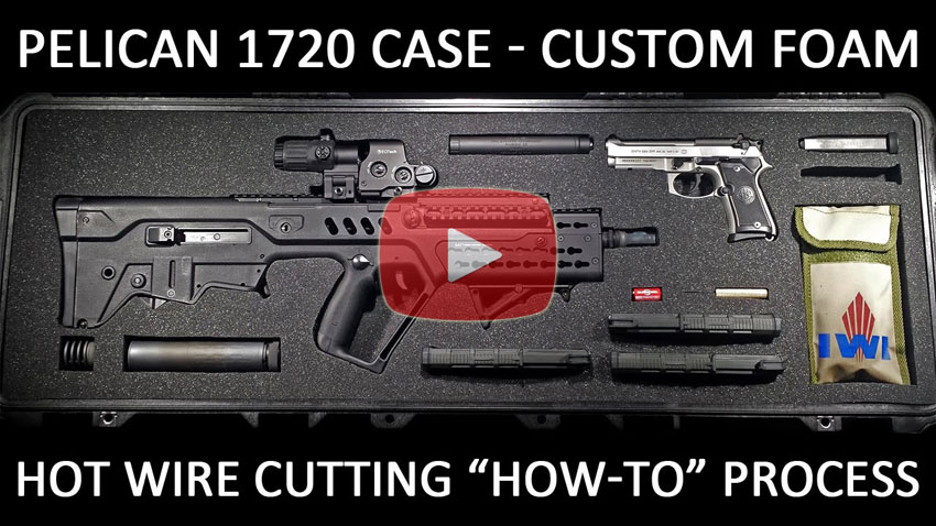 How To Custom Foam For Pelican 1720 Case Hot Wire Cutter
