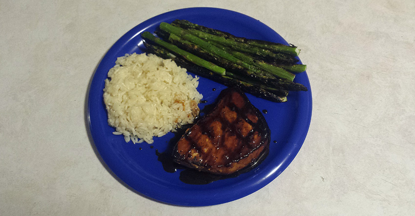 Grilled Swordfish Steaks with Sweet Lime-Ginger-Soy Glaze